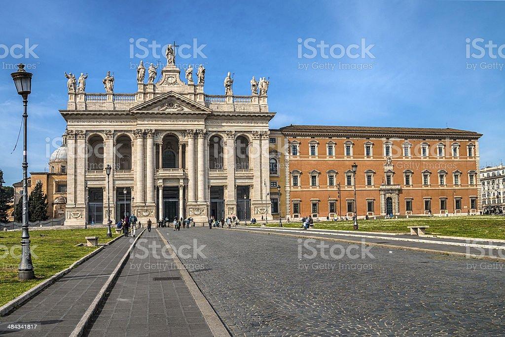 Basilica of San Giovanni stock photo