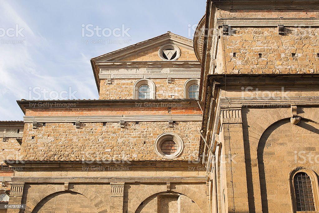 Basilica of San Lorenzo Florence stock photo