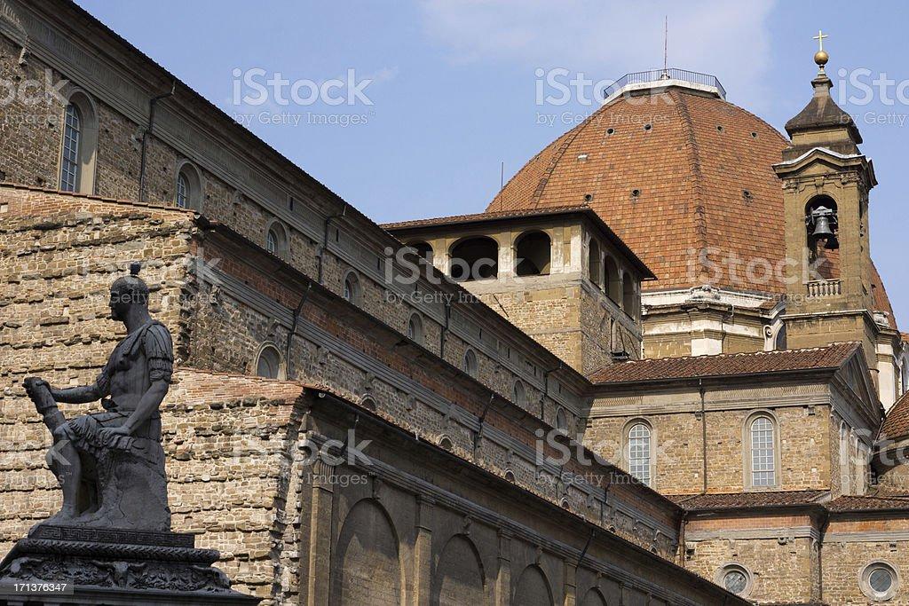 Basilica of San Lorenzo in Florence, Italy stock photo