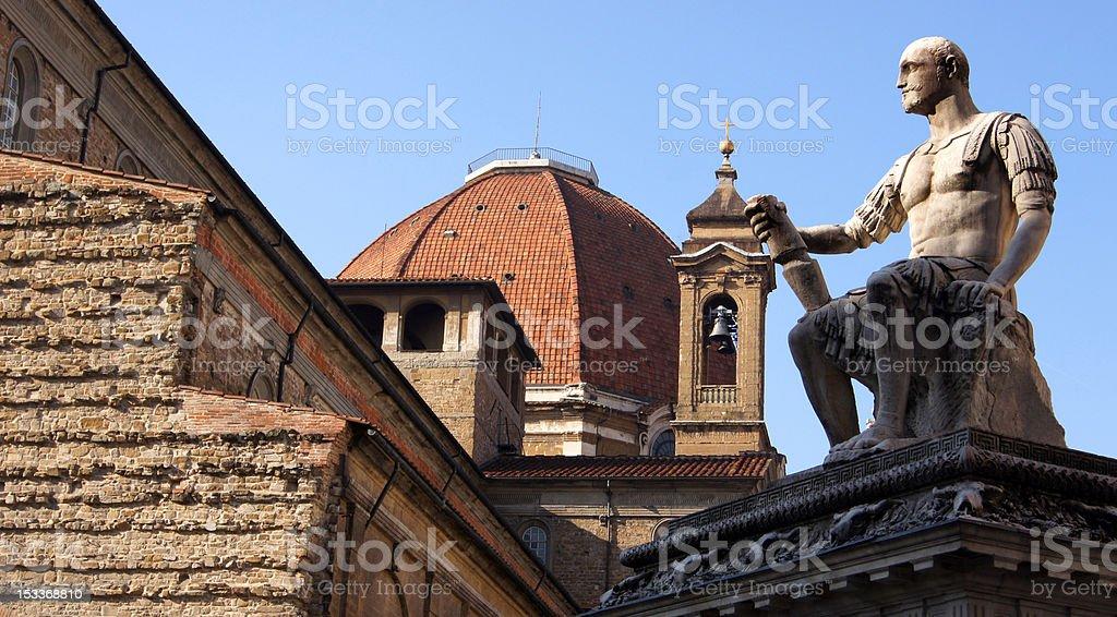 Basilica of San Lorenzo stock photo