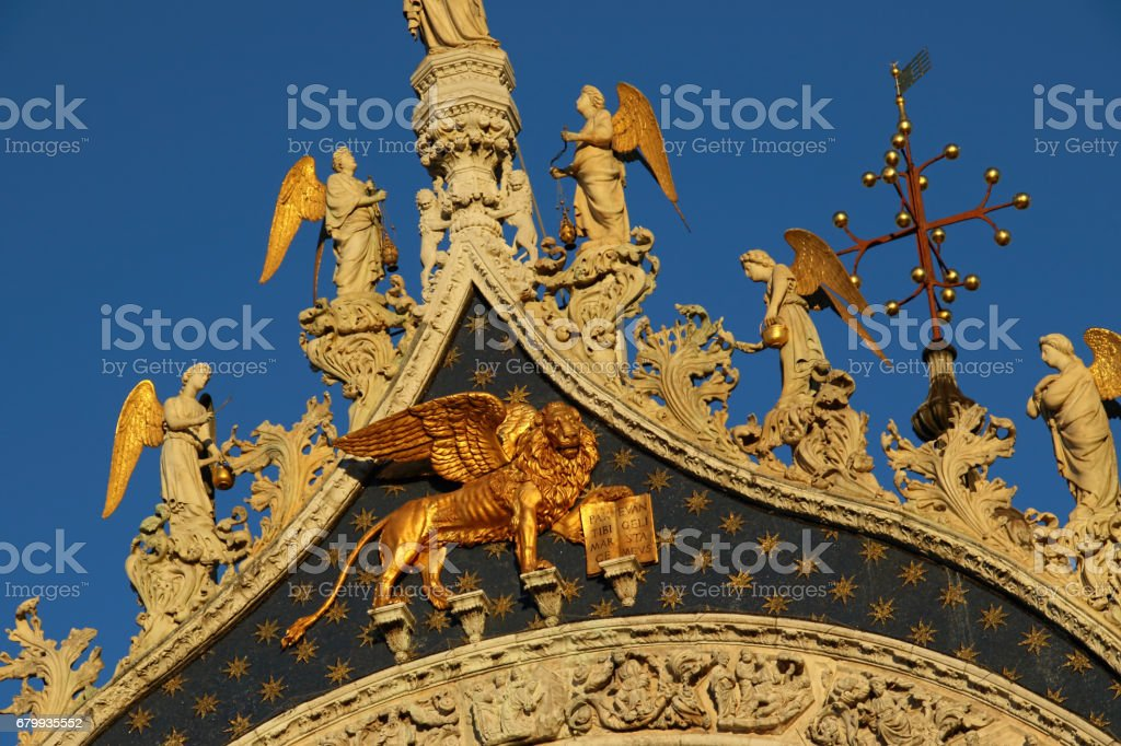 Basilica of San Marco in the City of Venice, Italy stock photo