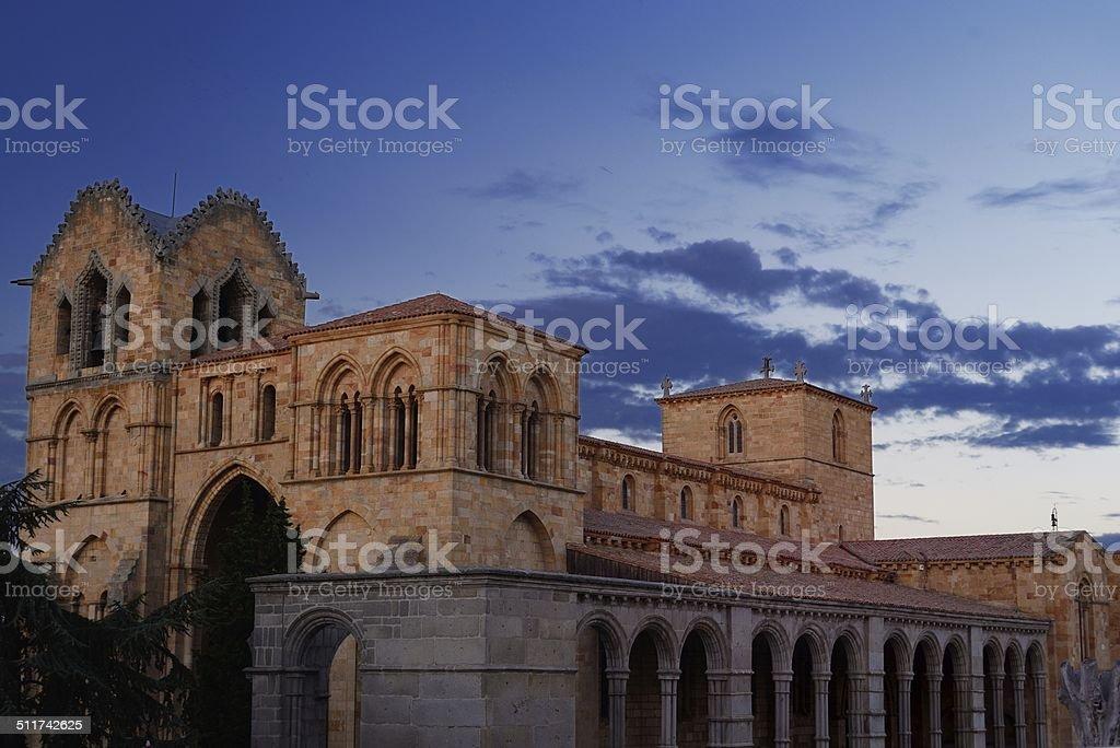 Basílica de San Vicente en Ávila, España foto de stock libre de derechos
