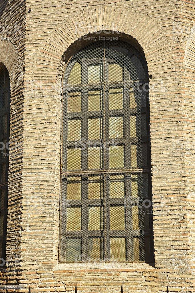 Basilica of San Vitale detail, Ravenna, Italy. royalty-free stock photo