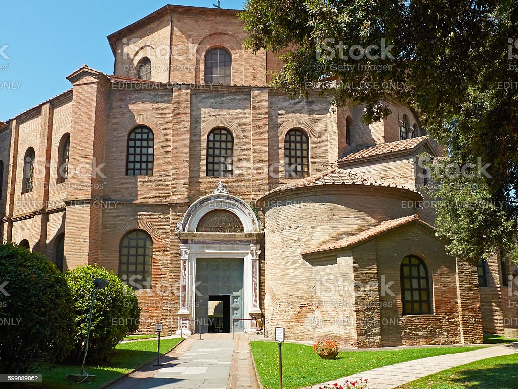 Basilica of San Vitale in Ravenna, Emilia-Romagna. Italy. stock photo