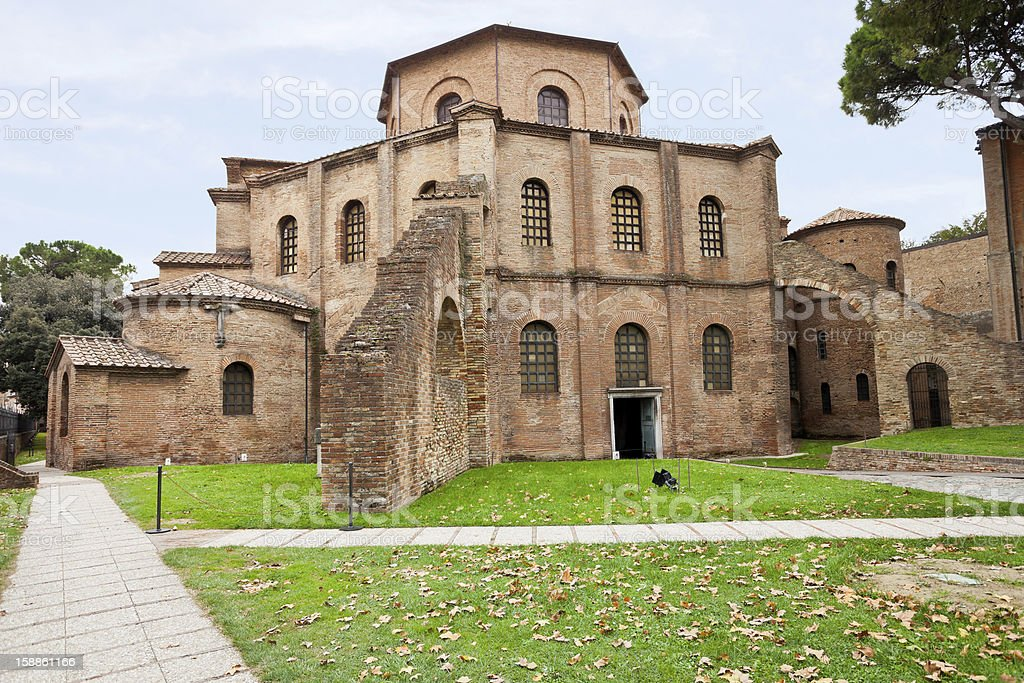 Basilica of San Vitale in Ravenna, Italy stock photo