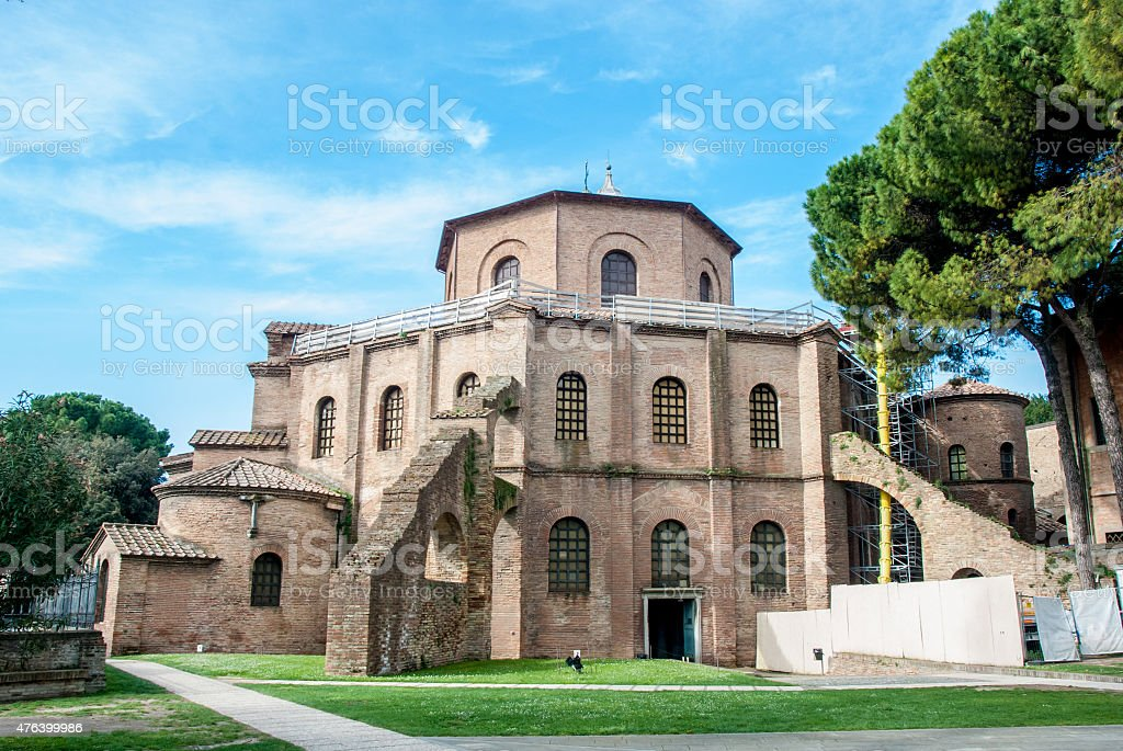Basilica Of San Vitale, Ravenna, Italy stock photo