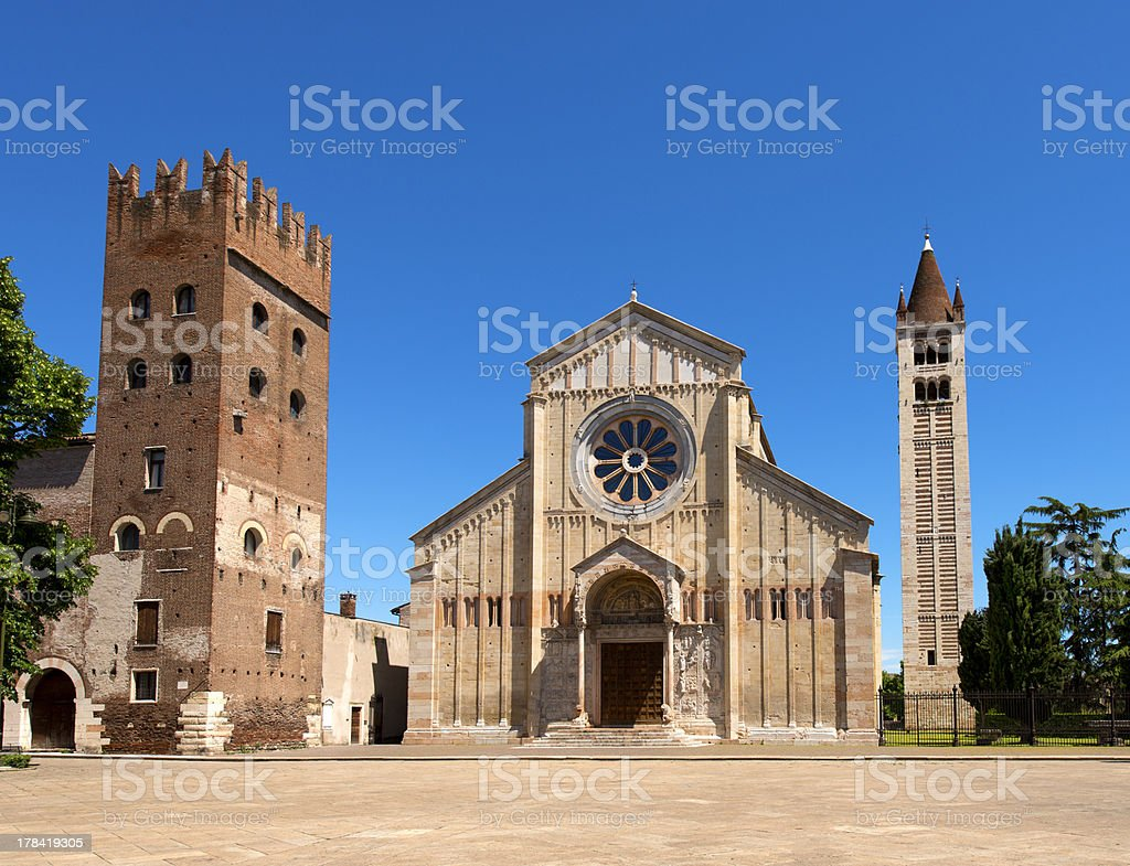 Basilica of San Zeno Verona - Italy royalty-free stock photo