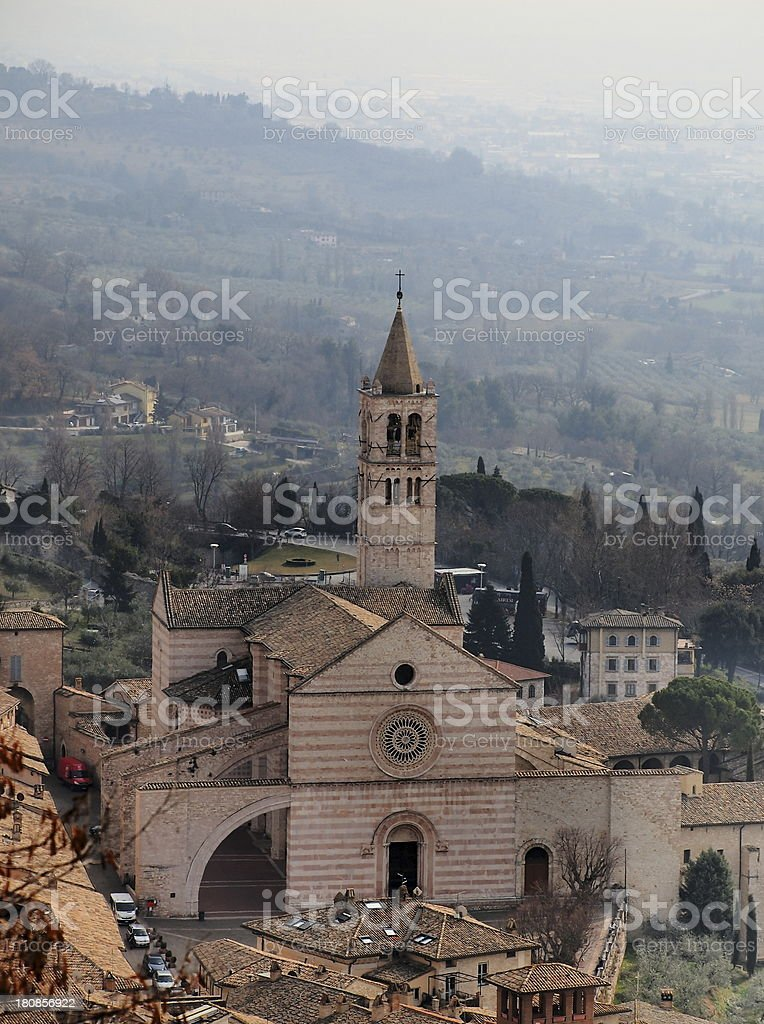 Basilica di Santa Chiara, Assisi, Italy stock photo