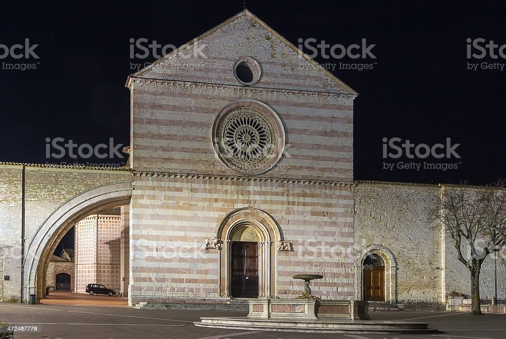 Basilica di Santa Chiara, Assisi stock photo