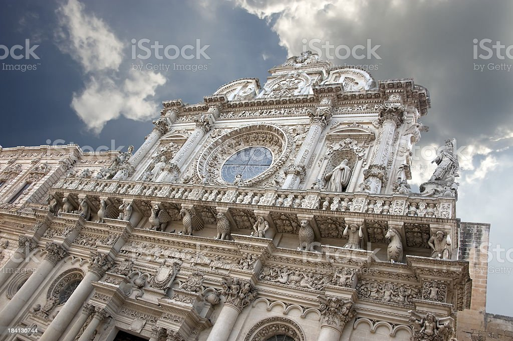 Basilica di Santa Croce, Lecce – Italy royalty-free stock photo