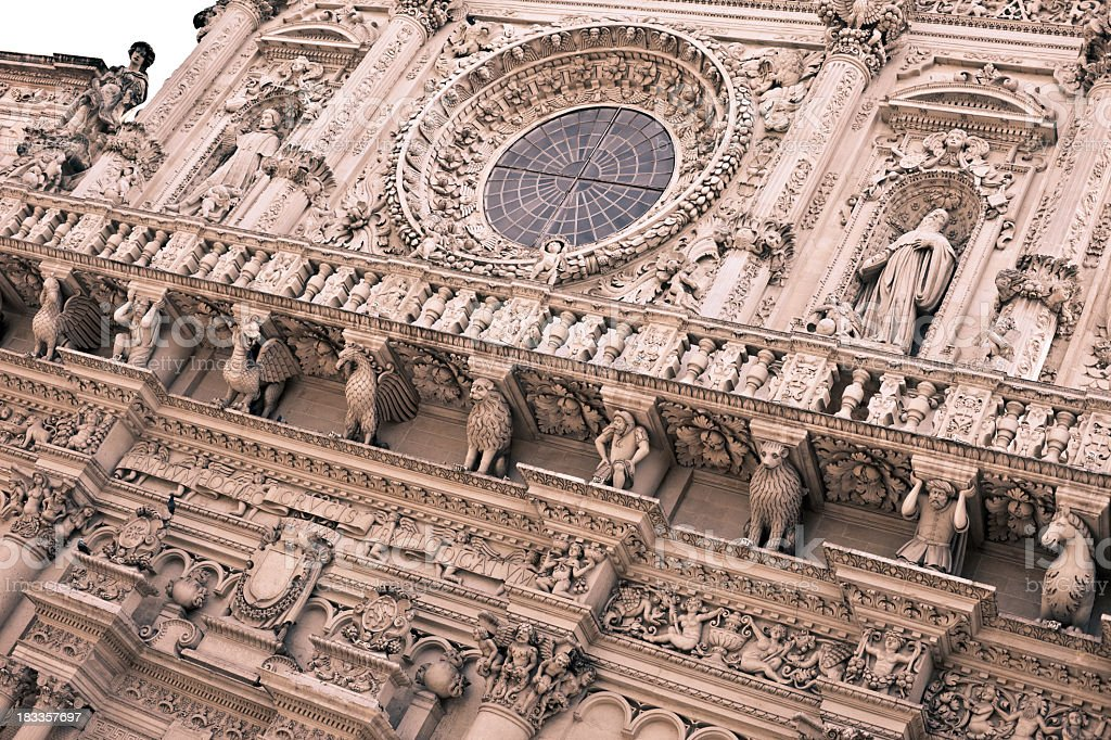 Basilica di Santa Croce, Lecce - Italy royalty-free stock photo