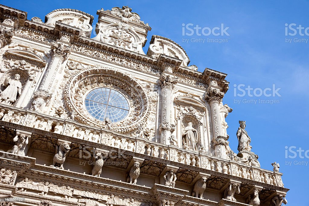 Basilica di Santa Croce, Lecce - Italy stock photo