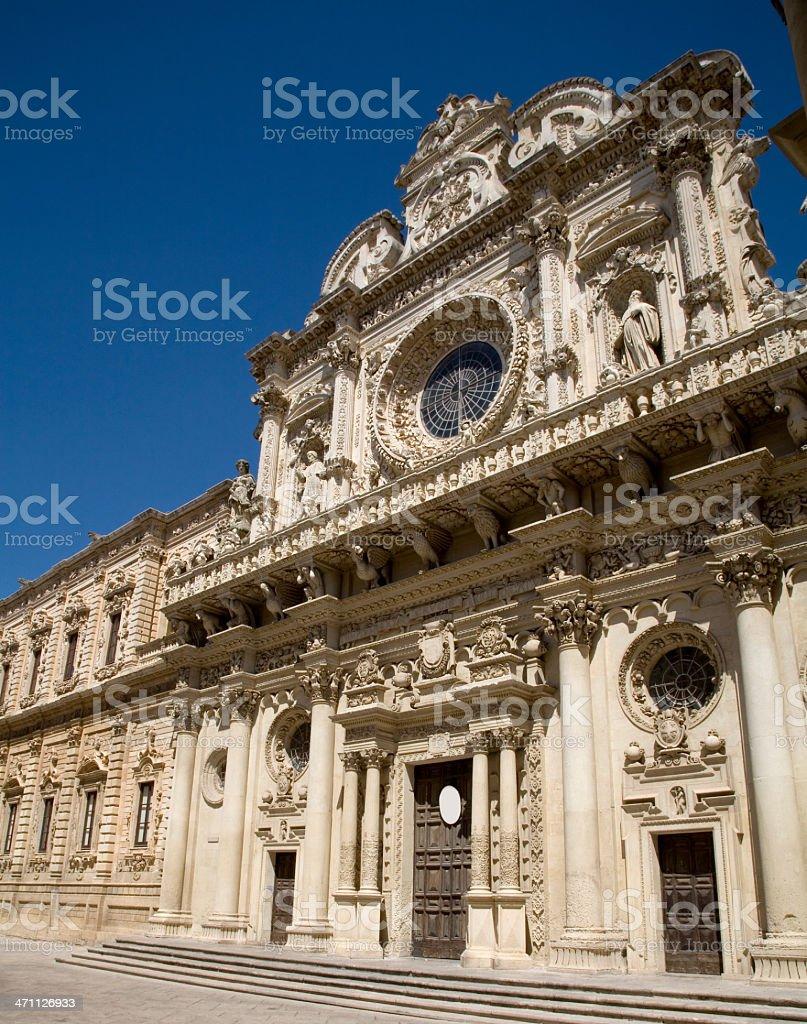 Basilica of Santa Croce Lecce royalty-free stock photo