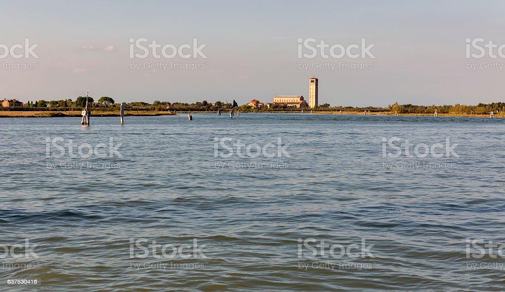 Basilica of Santa Maria Assunta, Torcello in Venice lagoon, Italy. stock photo