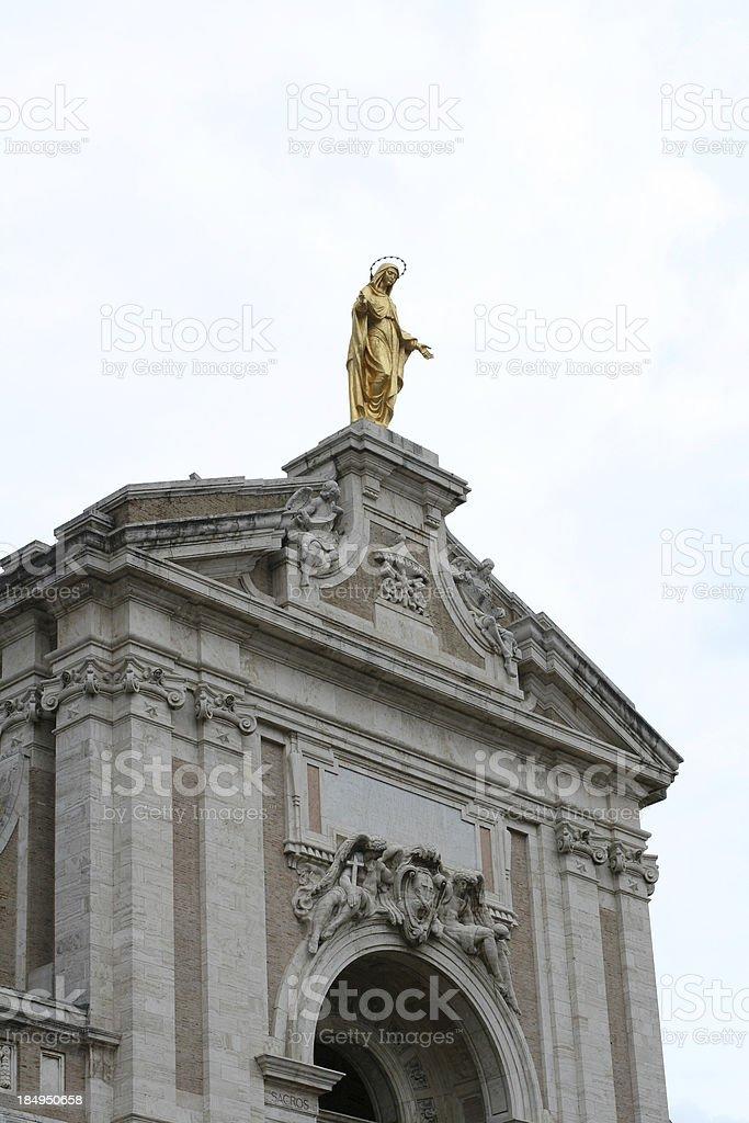 Basilica of Santa Maria degli Angeli royalty-free stock photo