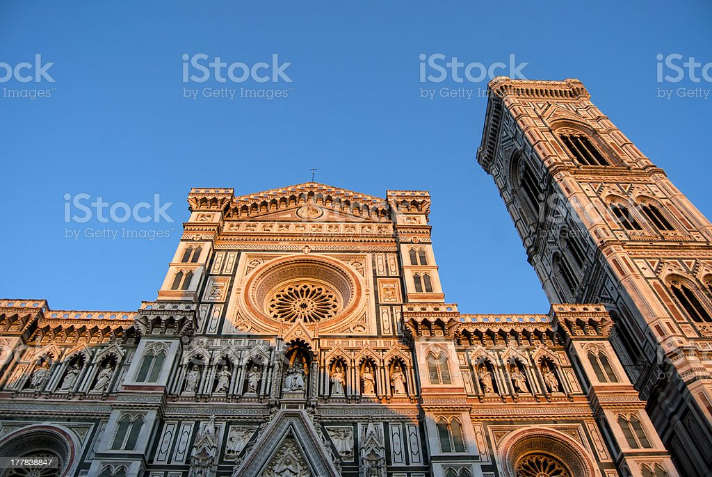 Basilica of Santa Maria in Florence with Giotto's bell tower royalty-free stock photo