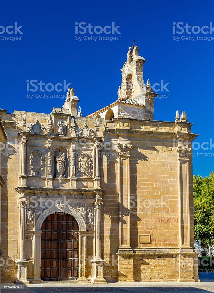 Basilica of Santa Maria the Reales Alcazares in Ubeda, Spain stock photo