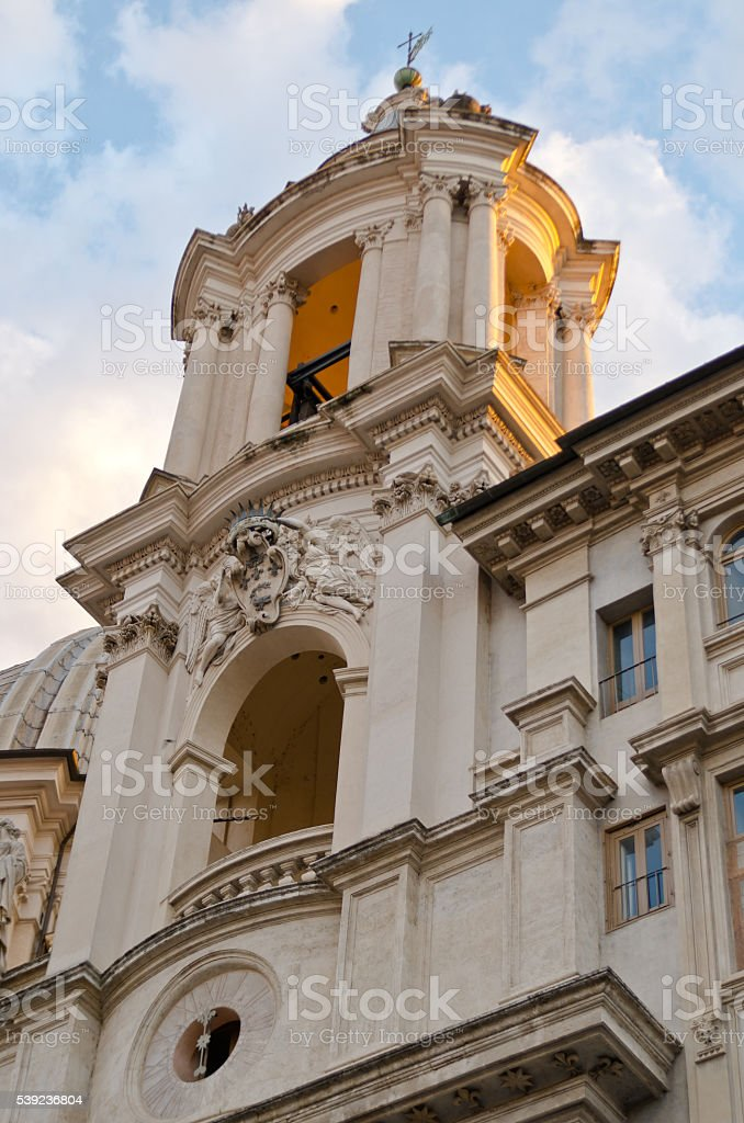 Basilica of Sant'Agnese in Agone stock photo