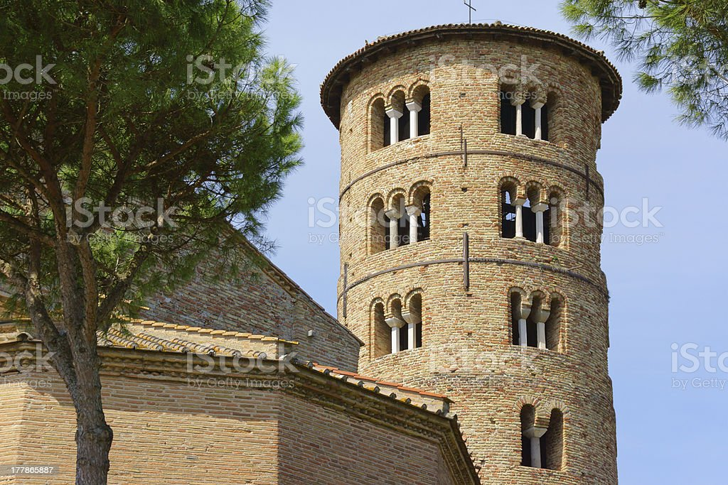 Basilica of Sant'Apollinare in Classe, Italy royalty-free stock photo