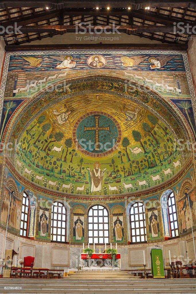 Basilica of Sant'Apollinare in Classe, Ravenna stock photo