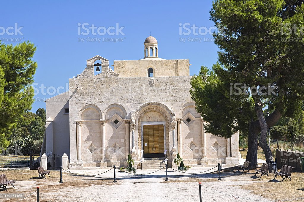 Basilica of Siponto. Manfredonia. Puglia. Italy. stock photo