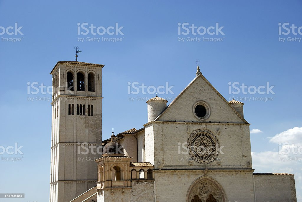 Basilica of St. Francis stock photo