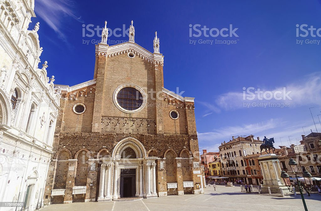 Basilica di San Giovanni e Paolo in Venice stock photo