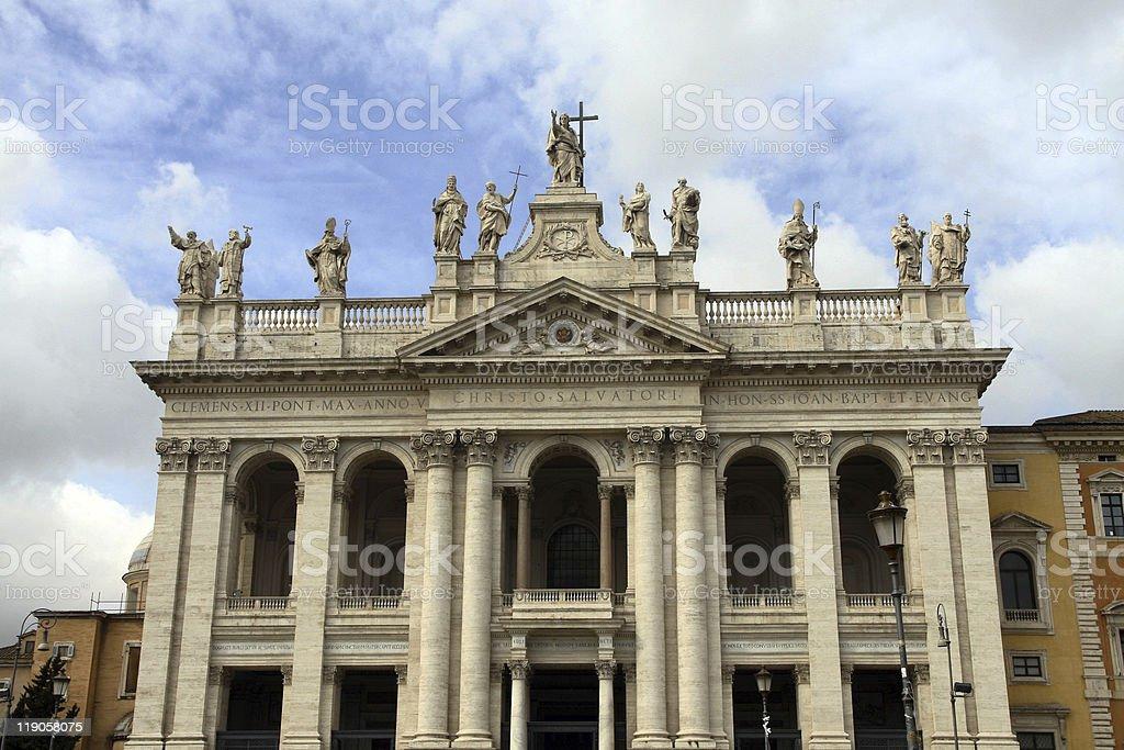 Basilica of St. John Lateran stock photo