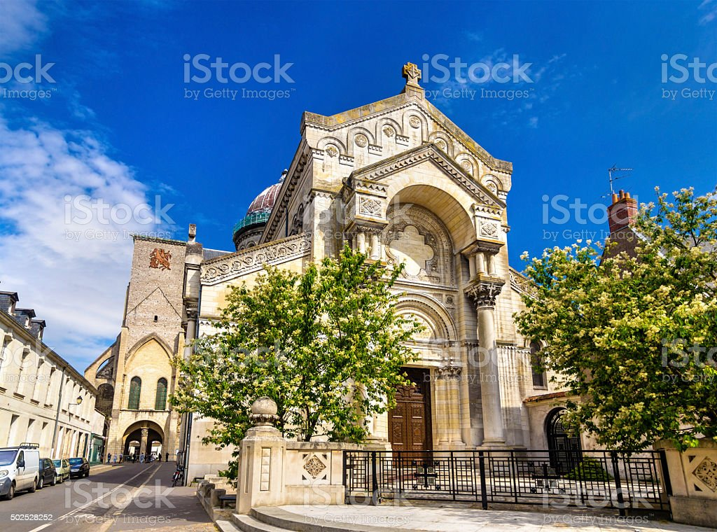 Basilica of St. Martin in Tours - France stock photo