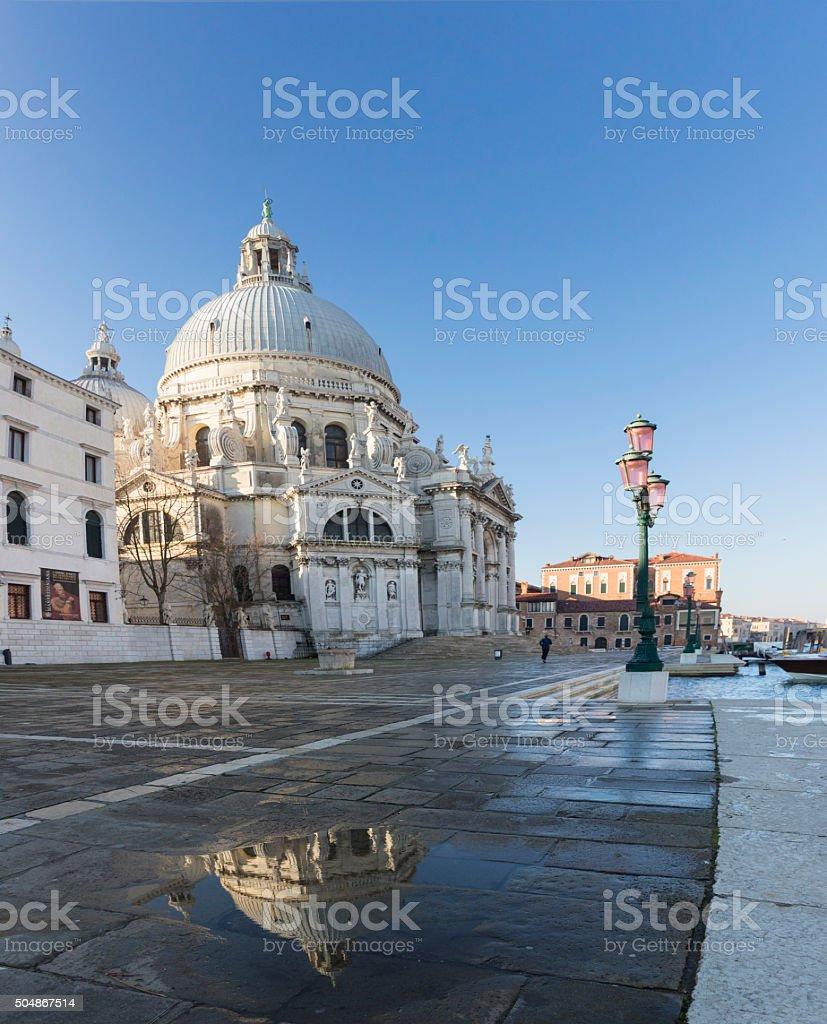 Basilica of St Mary of Health, Venice stock photo