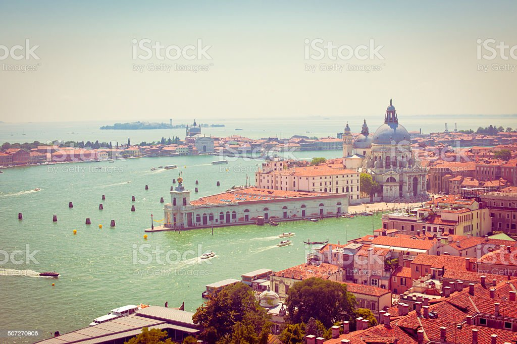 Basilica of St Mary of Health, Venice stock photo