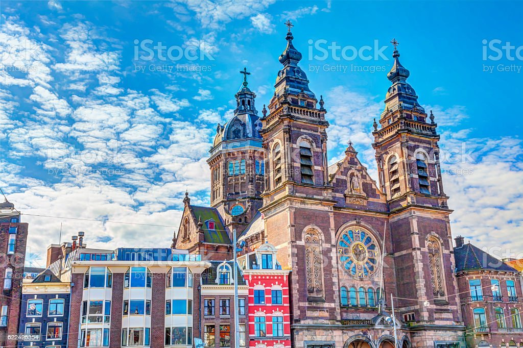 Basilica of St Nicholas stock photo