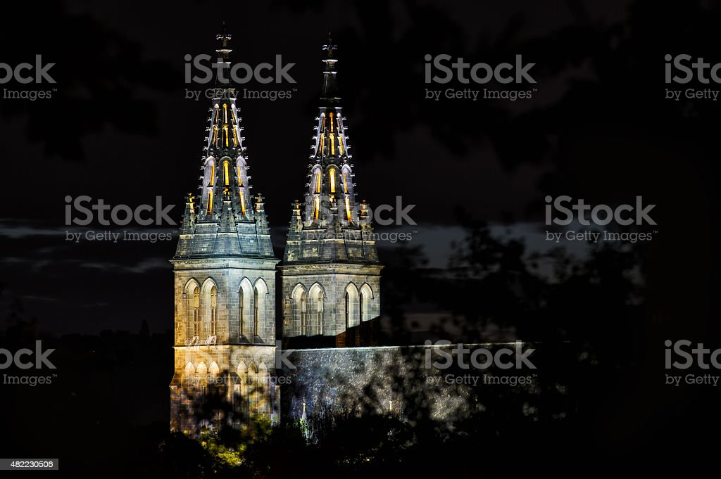 Basilica of St Peter and Paul, Prague, Vysehrad, Czech Republic stock photo