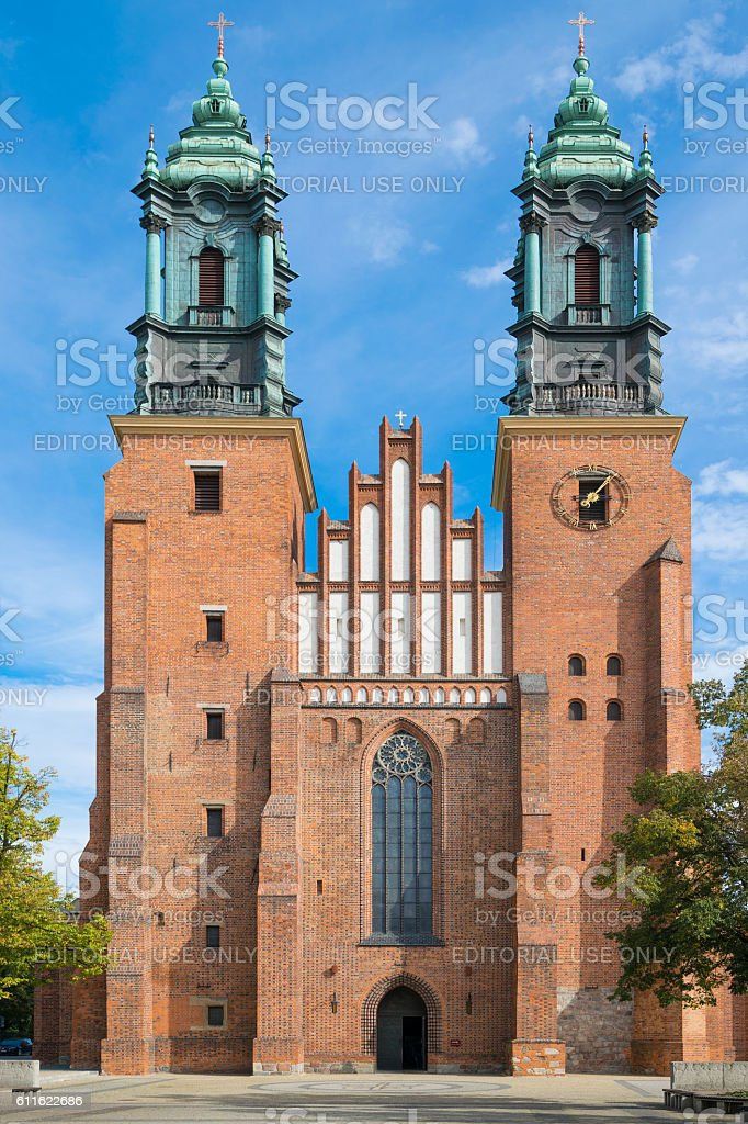 Basilica of St. Peter and St. Paull in Poznan stock photo