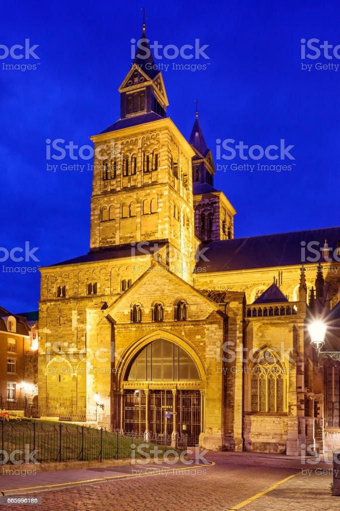 Basilica of St Servatius in Maastricht Netherlands stock photo