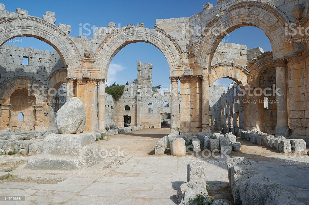 Basilica of St Simeon royalty-free stock photo