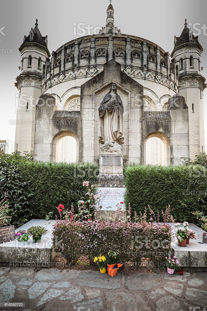 Basilica of St. Therese of Lisieux in Normandy France stock photo