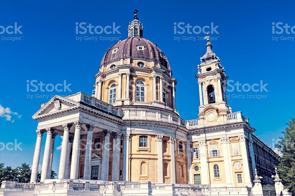 Basilica of Superga - Turin - Italy stock photo