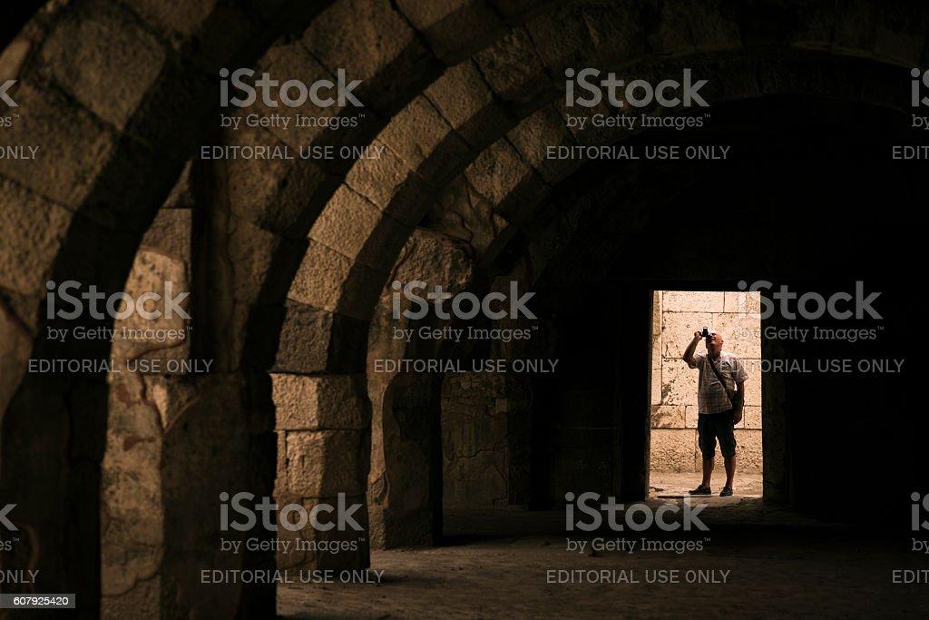 Basilica of the Agora ancient city stock photo