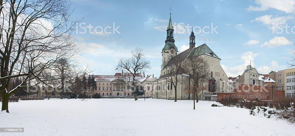 Basilica of the Assumption, Kalisz, Poland stock photo