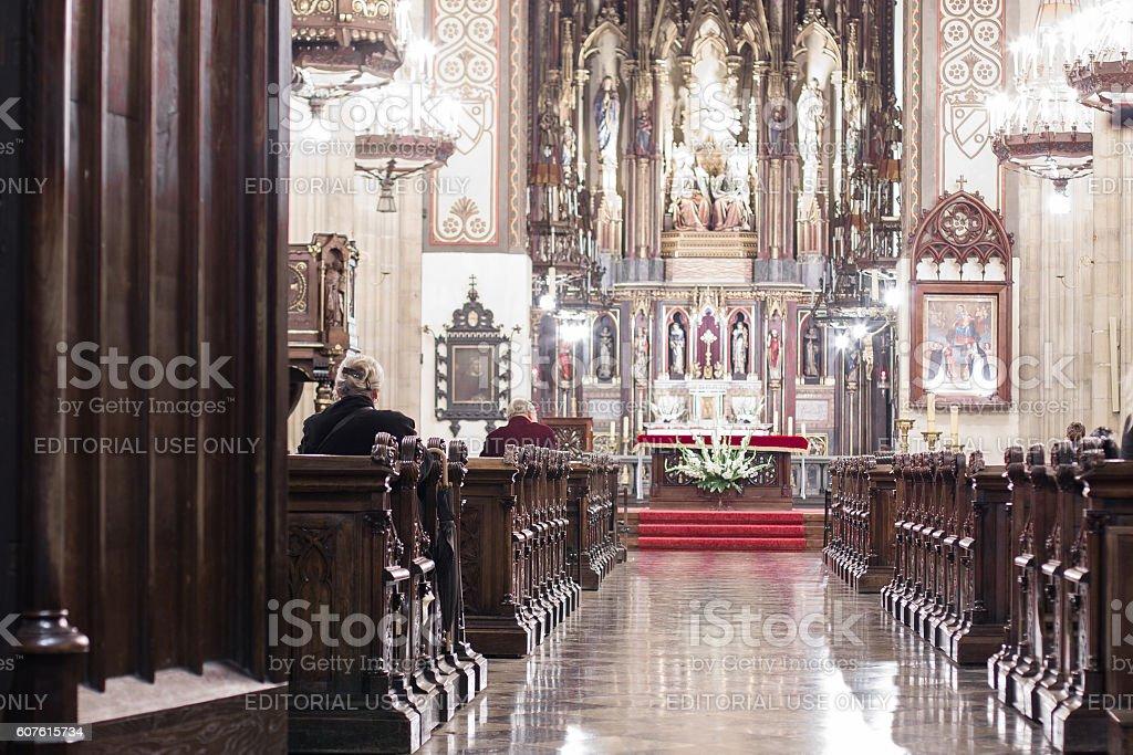 Basilica of the Holy Trinity in Cracov stock photo