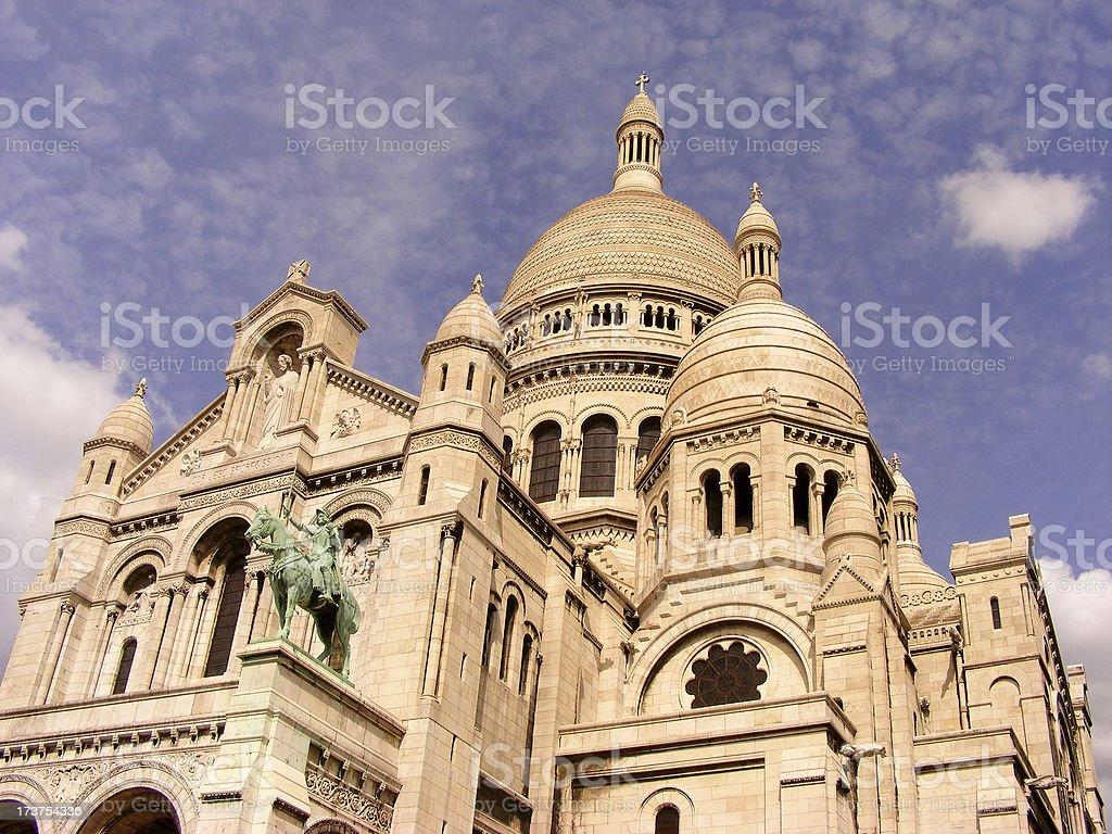 Basilique du Sacre Coeur de Montmartre stock photo