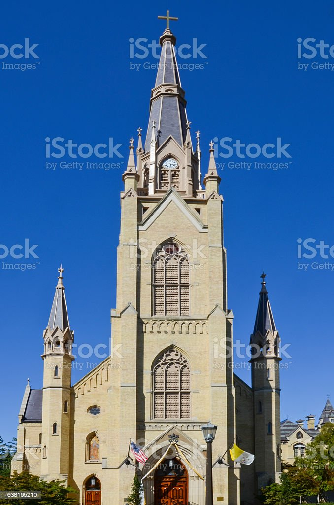 Basilica of the Sacred Heart at University of Notre Dame stock photo