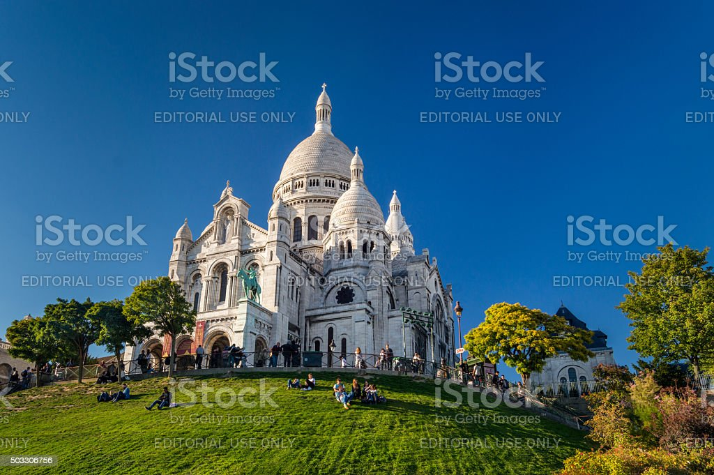 Basilique Du Sacre Coeur, Montmartre, Paris, France stock photo