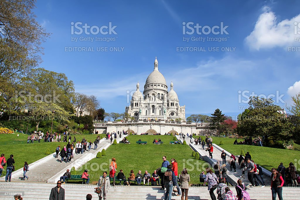 Basilique Du Sacre Coeur, Paris royalty-free stock photo