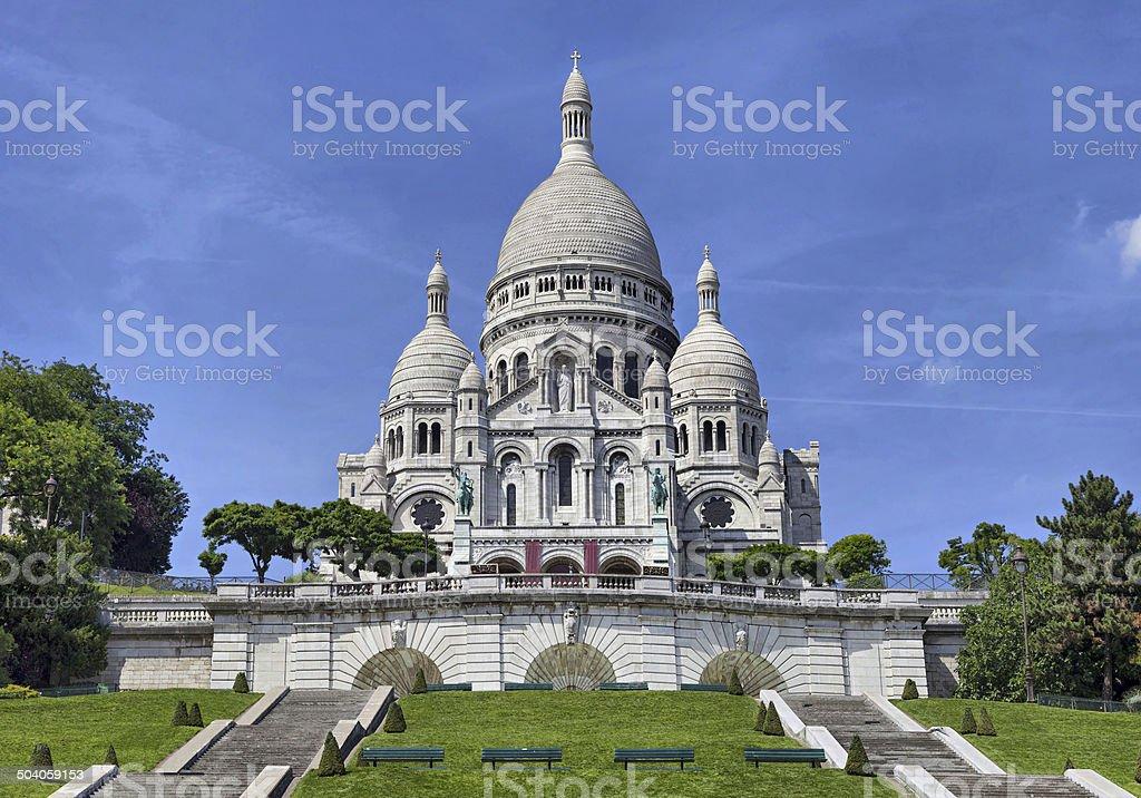 Basilica of the Sacred Heart, Paris stock photo