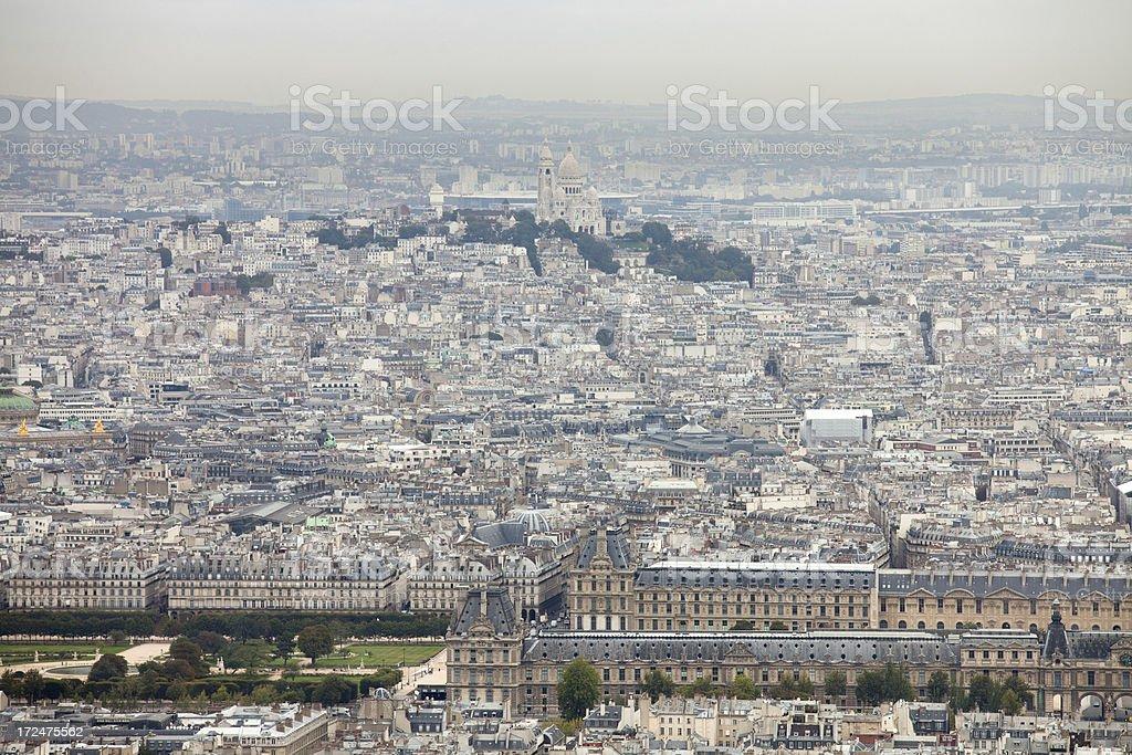 Basilique Du Sacre Coeur, Paris skyline royalty-free stock photo