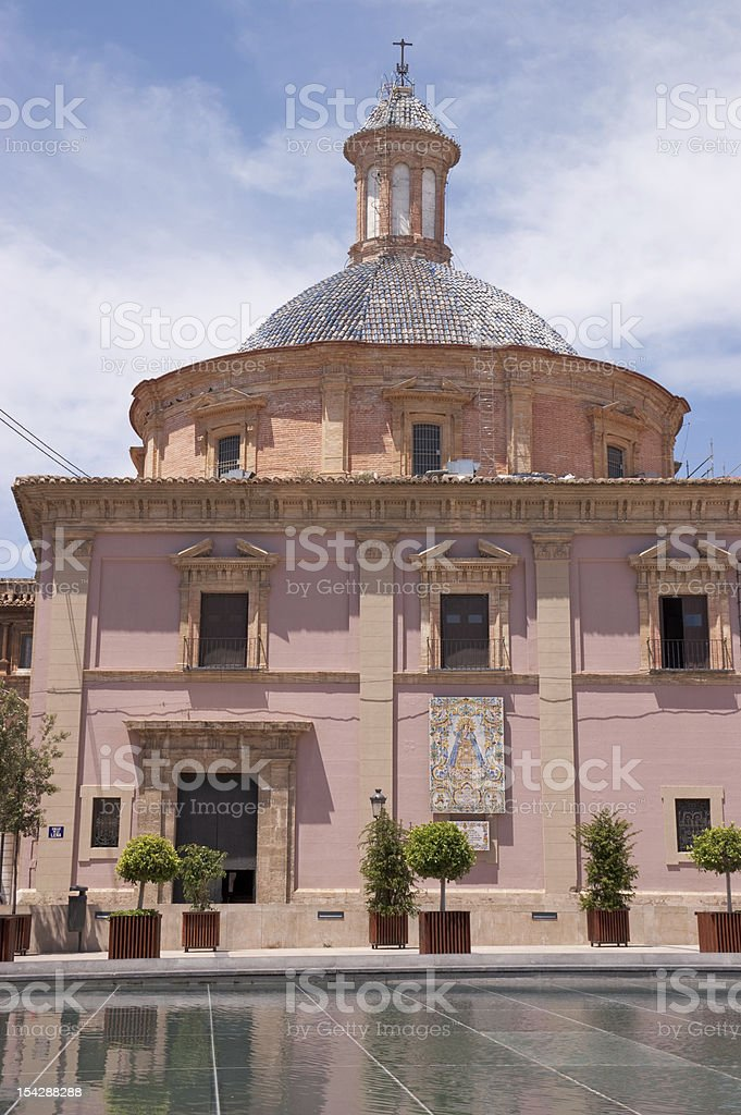 "Basilica of ""la Virgen de los Desamparados"" stock photo"