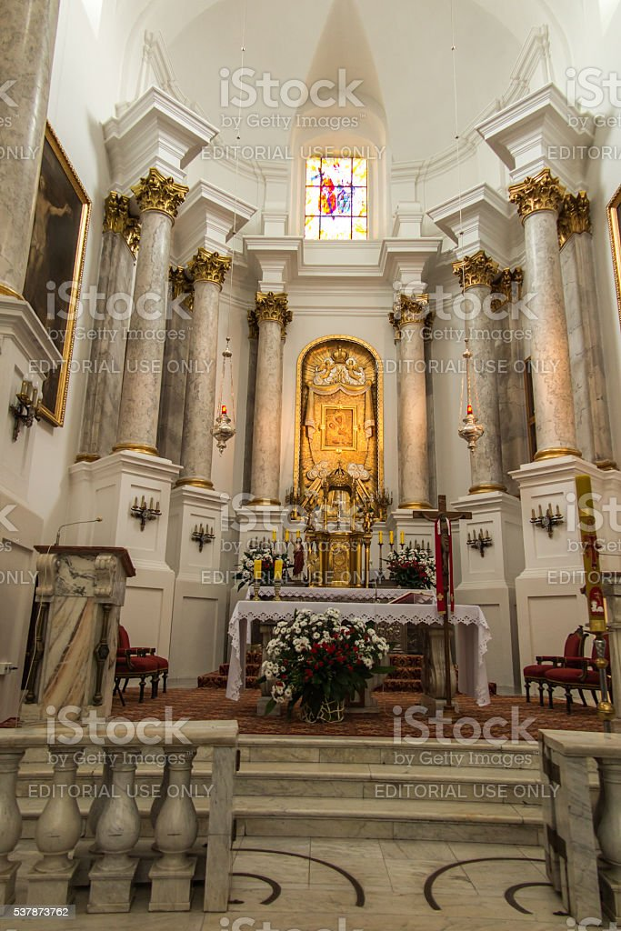 Basilica of Virgin Mary in Chelm in eastern Poland stock photo