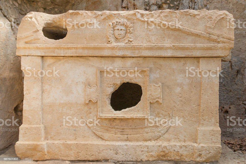 Basilica Olympos City stock photo